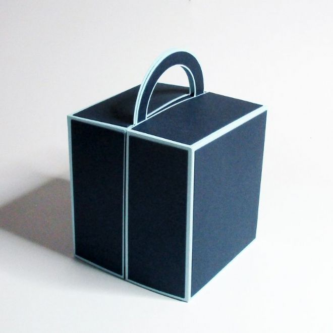 Handle Gift Box Template